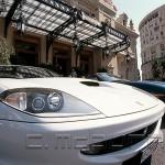 Monte-Carlo place du Casino Ferrari blanche