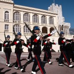 Monaco Palais princier garde relève